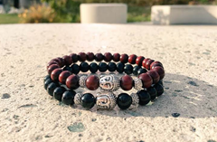 Black & Burgundy Stack