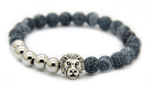 Frost Vein Silver Lion Bracelet *New Item Sale!*