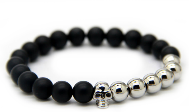 Matte Black & Silver plated Skull *1 Day Sale!*