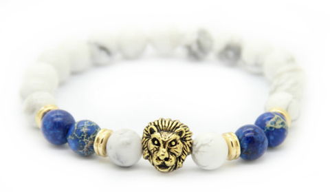 Frost White & Gold Lion Bracelet *1 Day Sale!*
