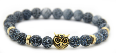 Frosted Vein Gold Owl Bracelet