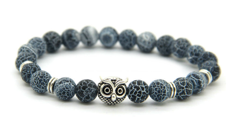 Frosted Vein Silver Owl Bracelet *New Item Sale!*