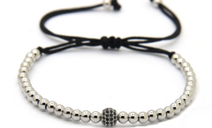Silver 4mm CZ adjustable Bracelet *New Item Sale!*