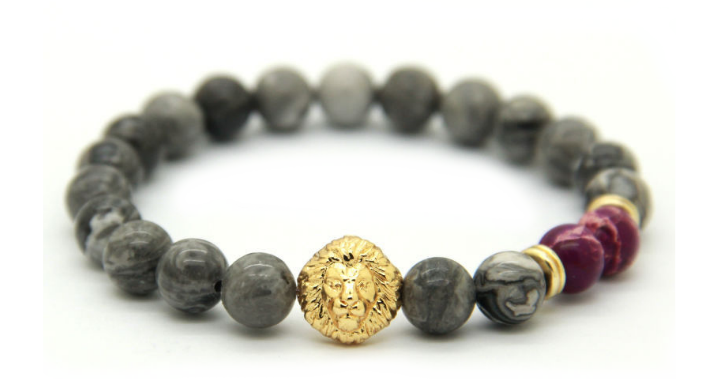 Grey Gold & Purple Alpha Lion *New Item Sale!*