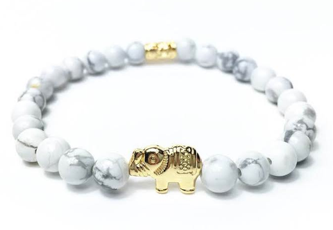White & Gold Good Luck Elephant *New Item Sale!*