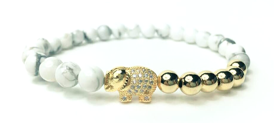 Gold & White Good Luck Elephant *New Item Sale!*