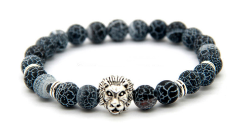 Frosted Vein Silver Lion Bracelet *New Item Sale!*