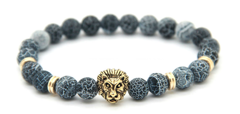 Frosted Vein Gold Lion Bracelet *New Item Sale!*