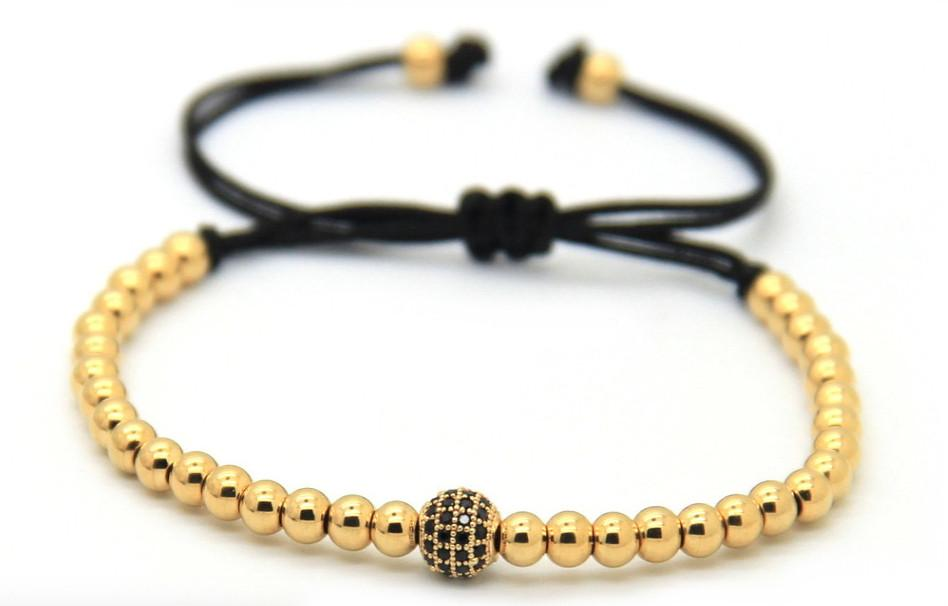 Gold 4mm CZ adjustable Bracelet *New Item Sale!*