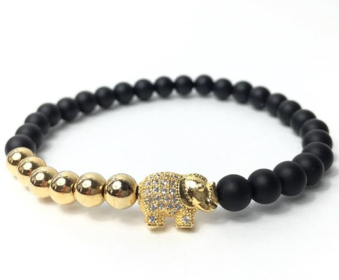Black & Gold Good Luck Elephant *New Item Sale!*