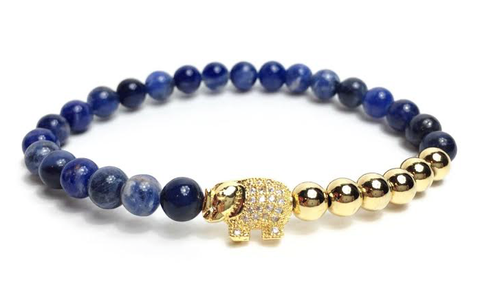 Moon Blue & Gold Good Luck Elephant *New Item Sale!*