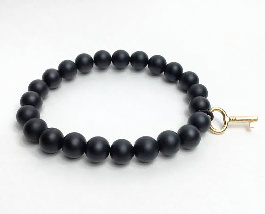 Matte Black Golden KEY bracelet *New Item Sale!*