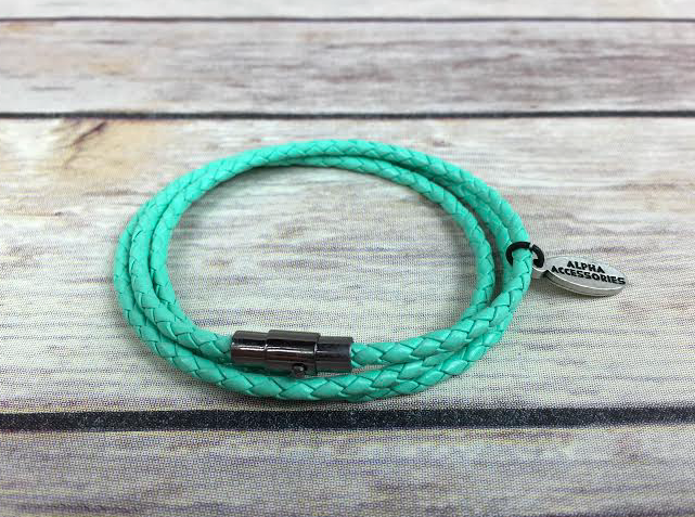 Premium Teal Triple Wrap Leather Bracelet *New Item Sale!*