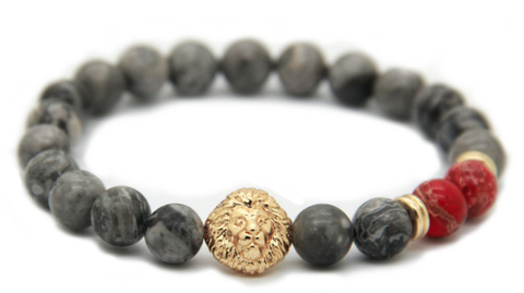 Grey Gold & Red Alpha Lion *Spring Collection!*