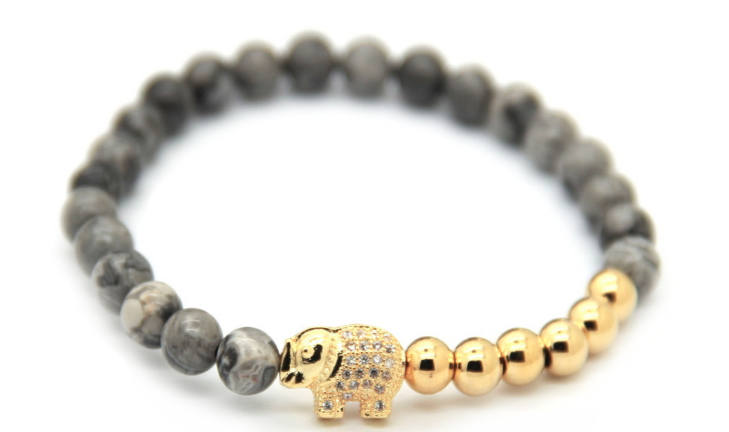 Grey & Gold Good Luck Elephant *New Item Sale!*