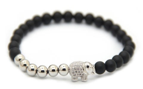 Matte Black & Silver Good Luck Elephant *New Item Sale!*