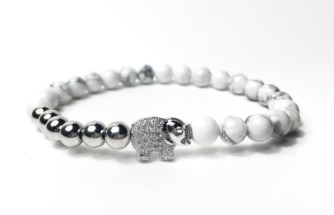 White & Silver Good Luck Elephant *New Item Sale!*