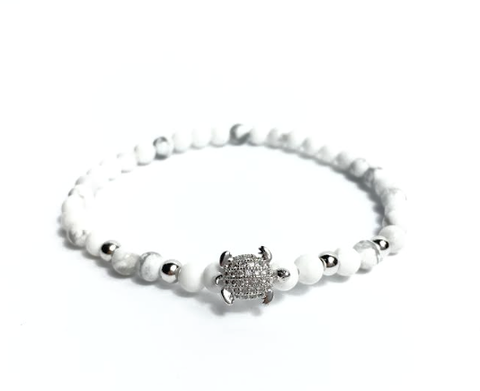 White & Silver Good Luck Turtle