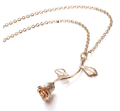 ed8169a4795 Rose Gold Rose Necklace Alpha Accessories – Alpha Accessories