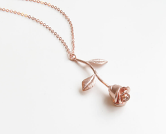 Rose Gold Rose Necklace