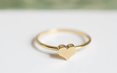 Golden Love ring bundle set