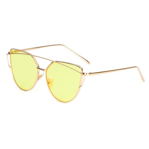 Miami vice - Gold shimmer sunglasses
