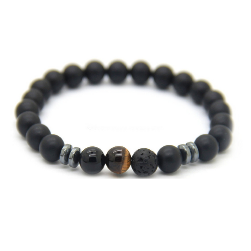 8mm Matte Black & Brown Good Luck Bracelets *1 Day Sale!*