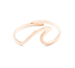 Dainty Rose Gold Wave Ring