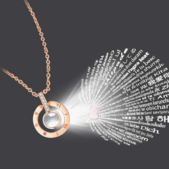 Gold I love you 100 languages necklace