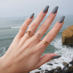 3pc Wave Ring Bundle