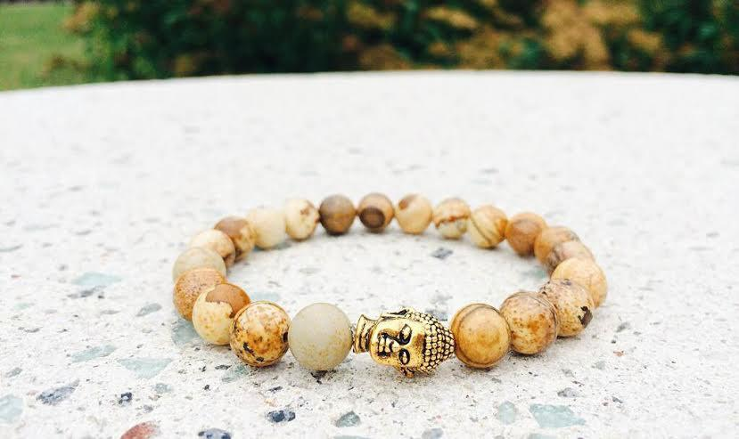 Woodland Gold Buddha Bracelet  *1 Day Sale!*