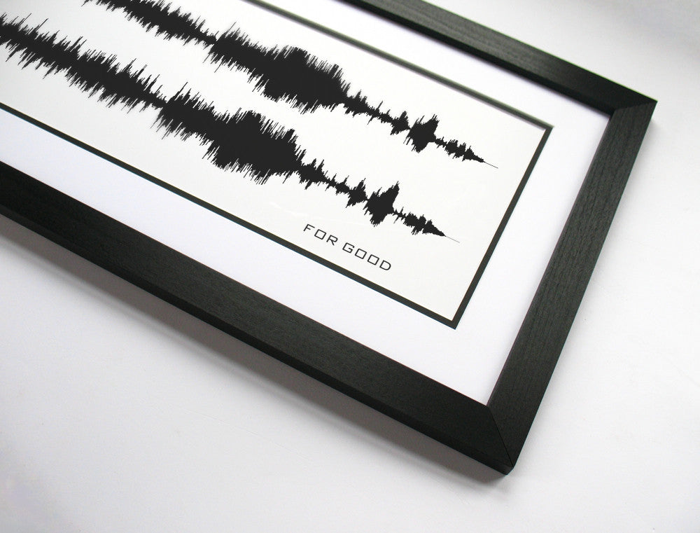 For Good - Wicked the Musical Art Print Poster Waveform