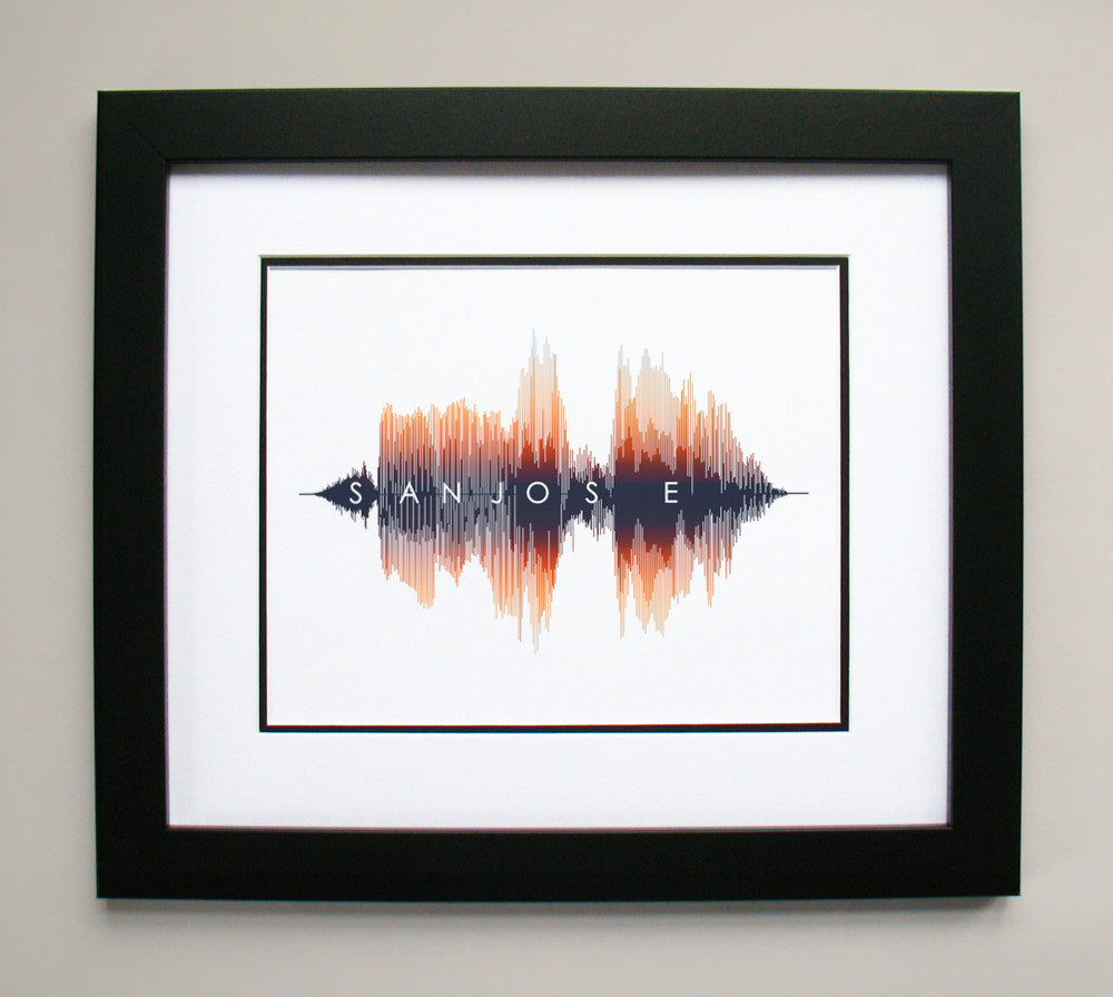 San Jose California Art Wall Decor Canvas Print Sound Waves