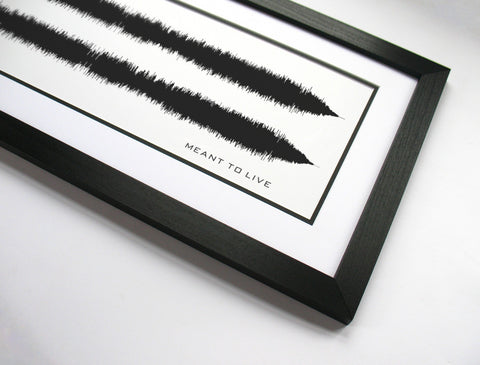 Meant to Live - Switchfoot Waveform Band Poster