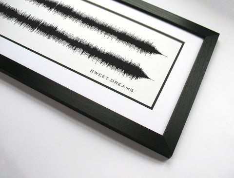 Sweet Dreams - The Cranberries Sound Wave Art Print