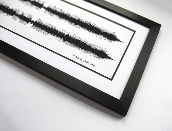 Take on Me - A-ha Sound Wave Prints