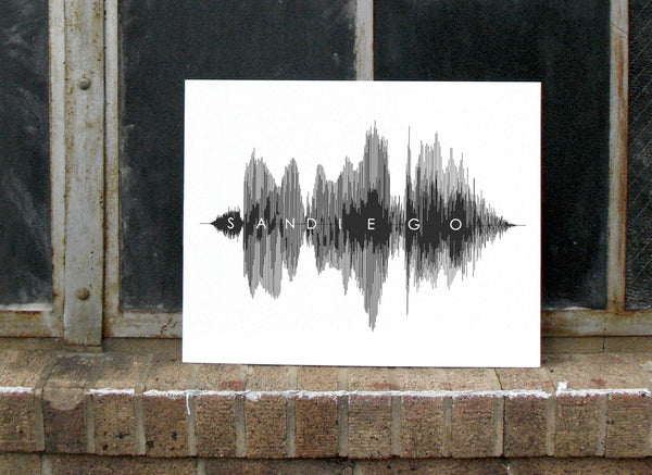 San Diego Art Sound Waves Voice Wall Art