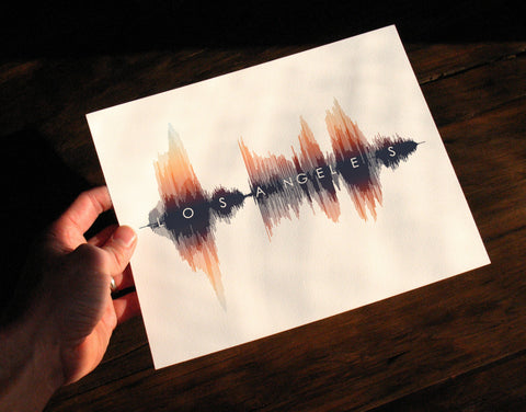 Los Angeles Sound Wave Art Print Poster - Custom SoundWave Decor created by SoundWaveArt.net
