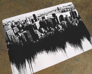 New York - Sounds of the City Waveform Print