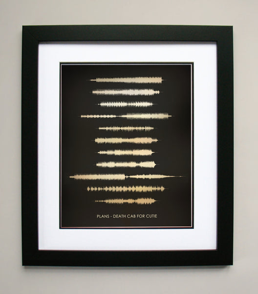 Death Cab Waveform Sound Wave Art Print - Entire Plans album in one image.