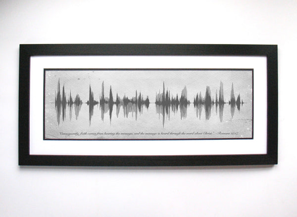 Romans 10:17 Wall Art Sound Waves