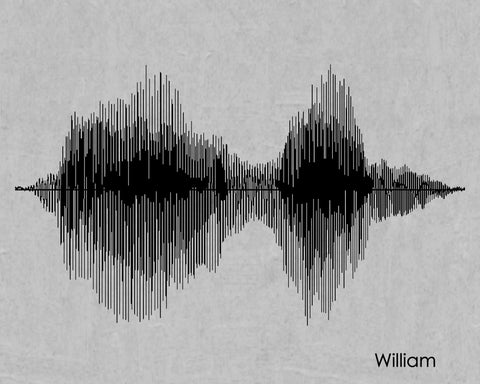 William Sound Wave Name Print - Created by SoundWaveArt.net