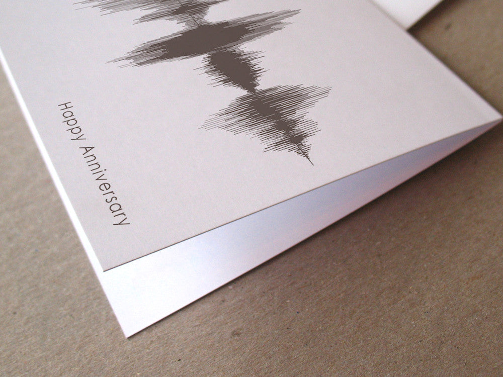 Happy Anniversary Sound Wave Audio Greeting Card