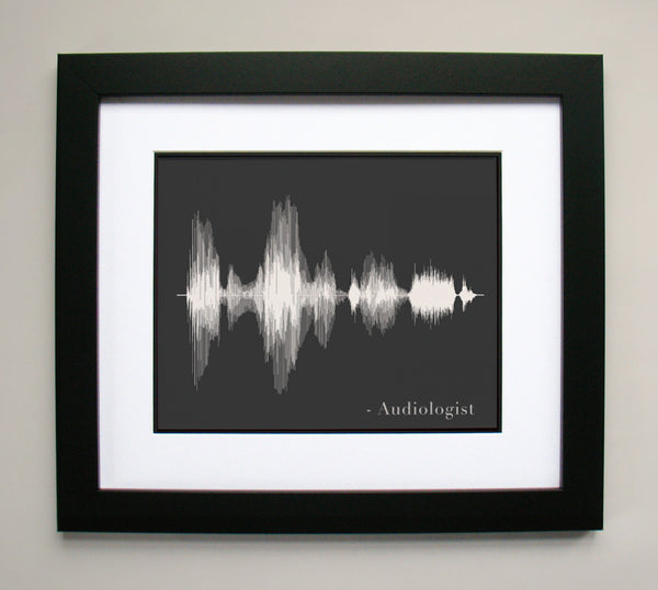 Audiologist Art Print - AUD Sound Wave Art Voice Art Print Wall Decor