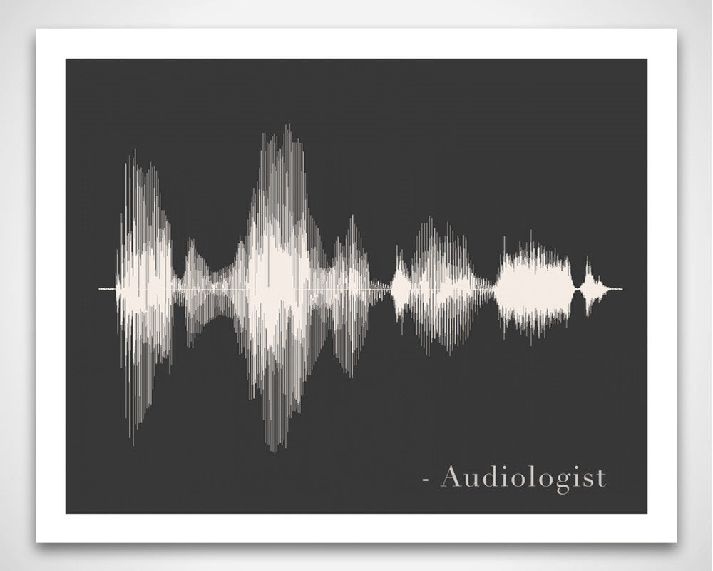 Audiologist Art Print - AUD Audiology Sound Wave Art Voice Art Print Wall Decor from SoundWaveArt.net