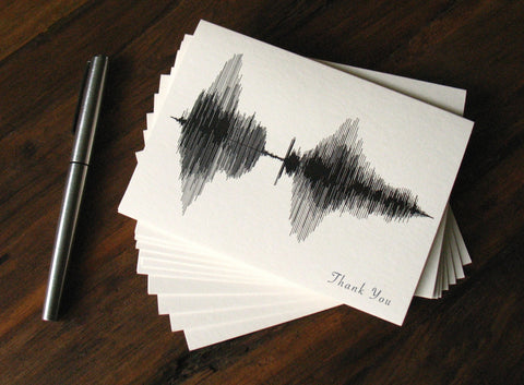 Thank You Waveform Image Card Stationery
