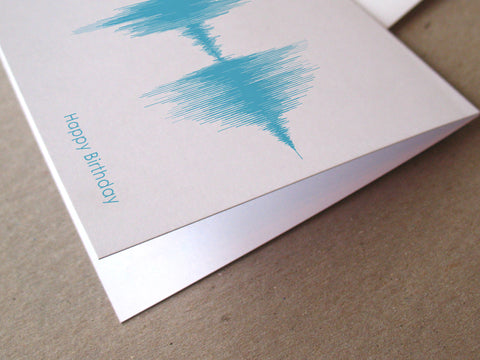 Happy Birthday Sound Wave Audio Greeting Card