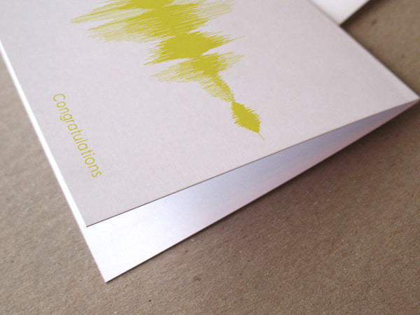 Congratulations Sound Wave Audio Greeting Card