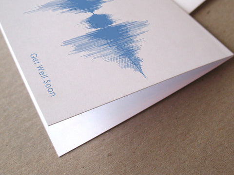 Get Well Soon Sound Wave Audio Greeting Card