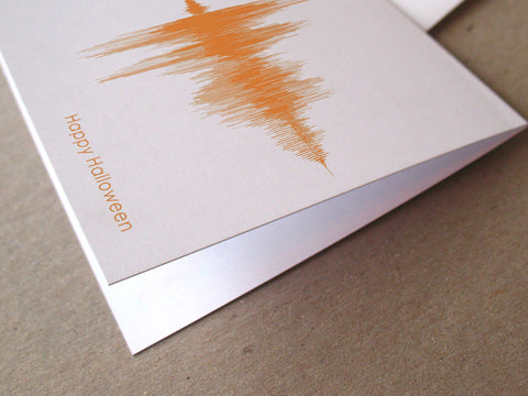 Happy Halloween Sound Wave Audio Greeting Card